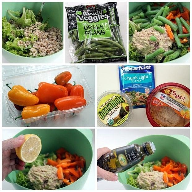 easy barley tuna salad lunch