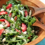 strawberry and fennel barley salad