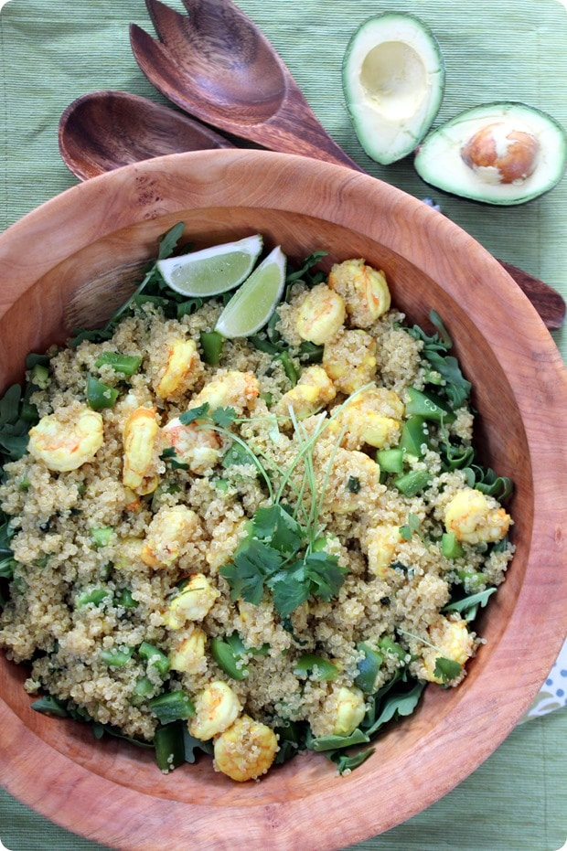 Caribbean Shrimp Quinoa Salad recipe