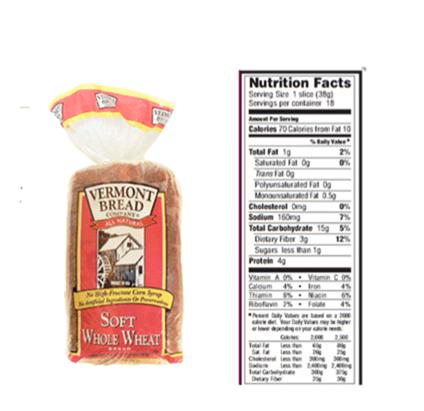 WW bread label