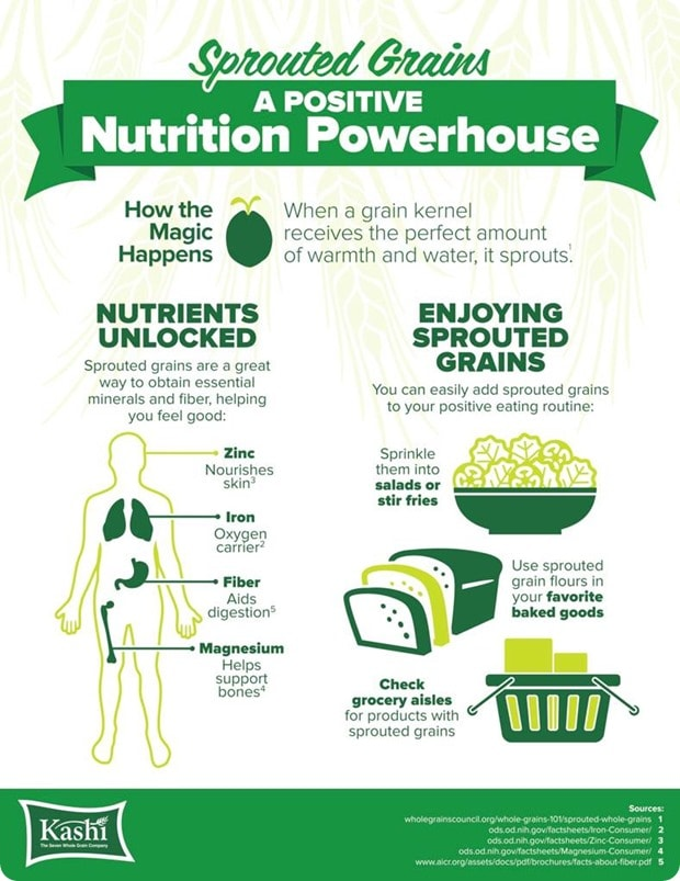 sprouted grains infographic