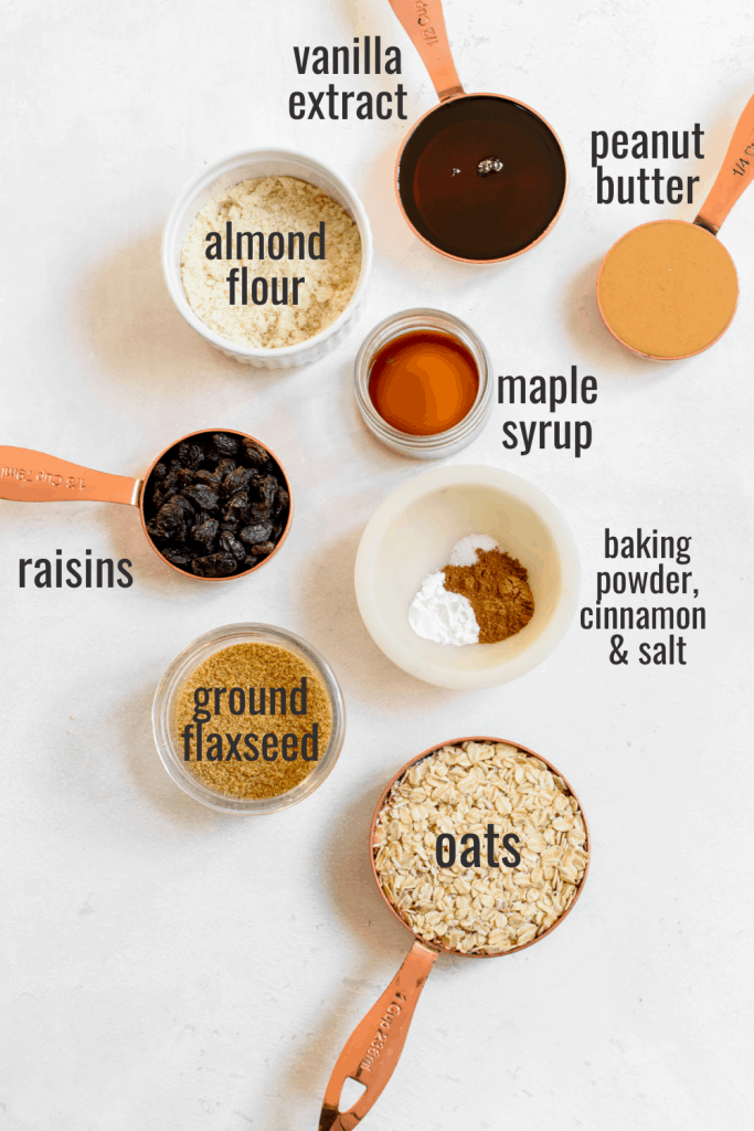vegan peanut butter oatmeal cookies ingredients