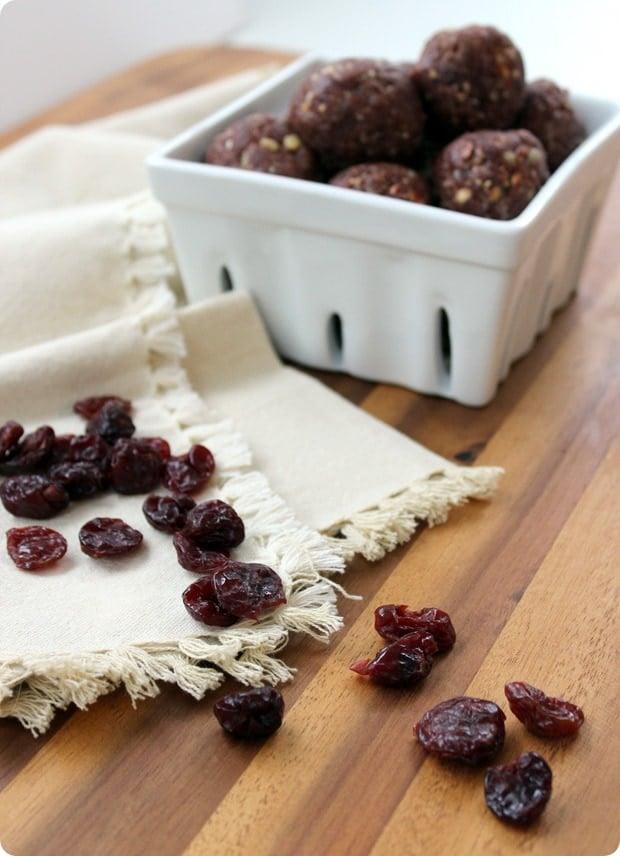 tart cherry snack balls