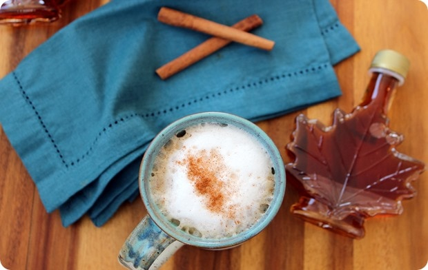 homemade maple syrup cinnamon latte recipe