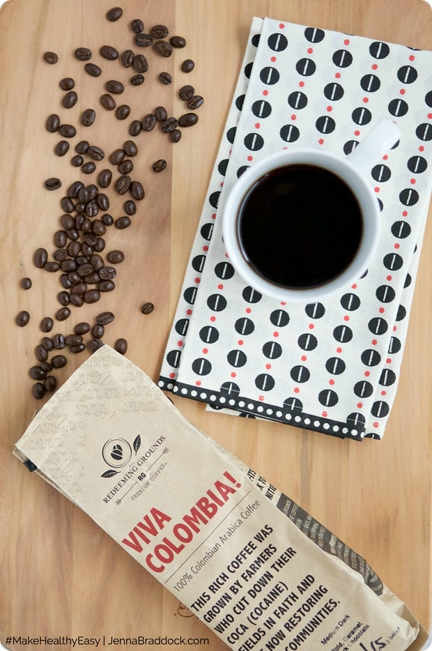 coffe cup and beans