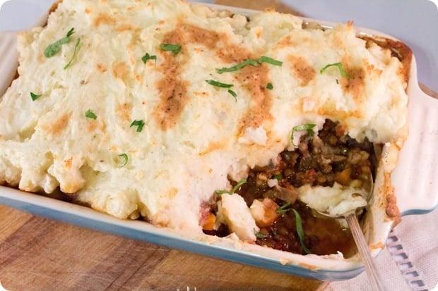 Vegan and Gluten Free Shepherd's Pie recipe