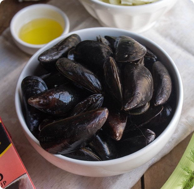 tomato broth mussels recipe