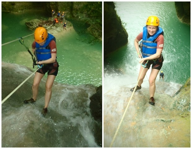 waterfall rappelling dominican republic