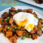 hash with poached eggs