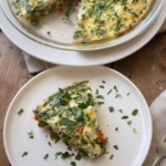 Crustless Quiche with Spring Vegetables Recipe