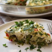 Crustless Quiche with Spring Vegetables