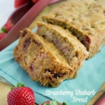 Healthy Strawberry Rhubarb Bread Recipe