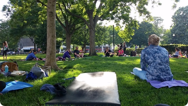 lululemon yoga in the park dupont circle