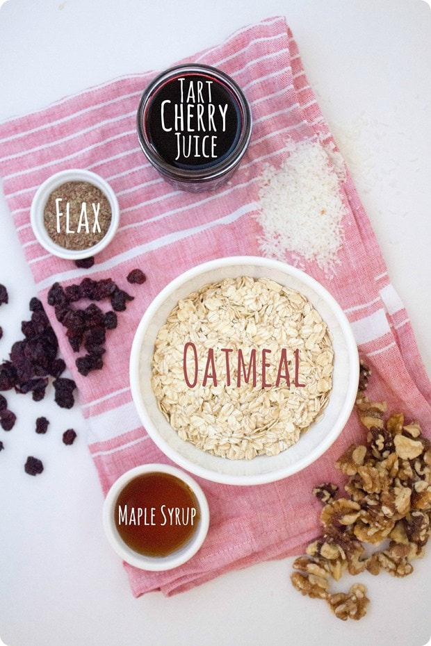 tart cherry oatmeal ingredients