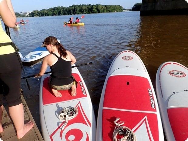 sup yoga class key bridge boathouse