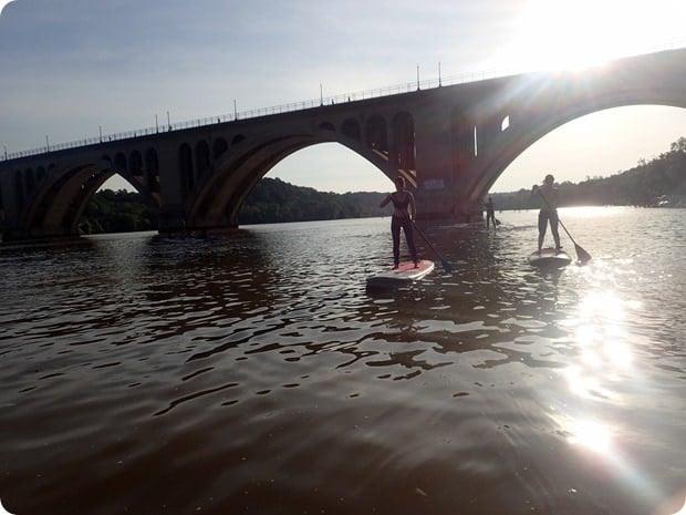 SUP key bridge boathouse