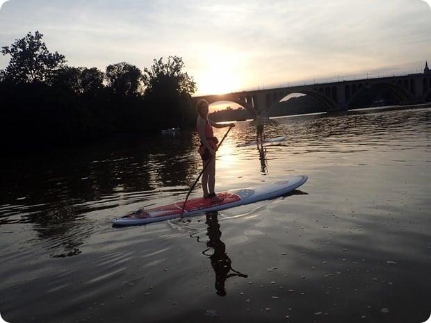 sunset sup key bridge boathouse
