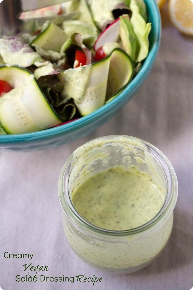 creamy vegan herb salad dressing recipe