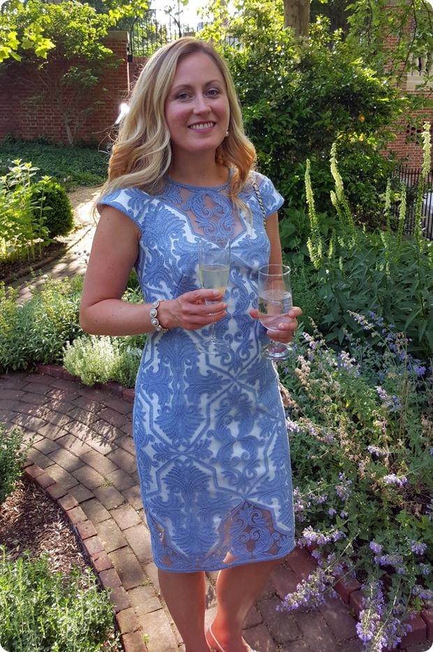 nordstrom blue lace dress