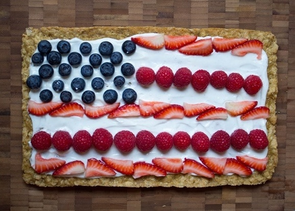4th of july american flag cookie cake