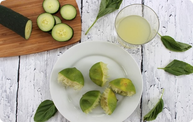 how to make cucumber lime basil prosecco drink