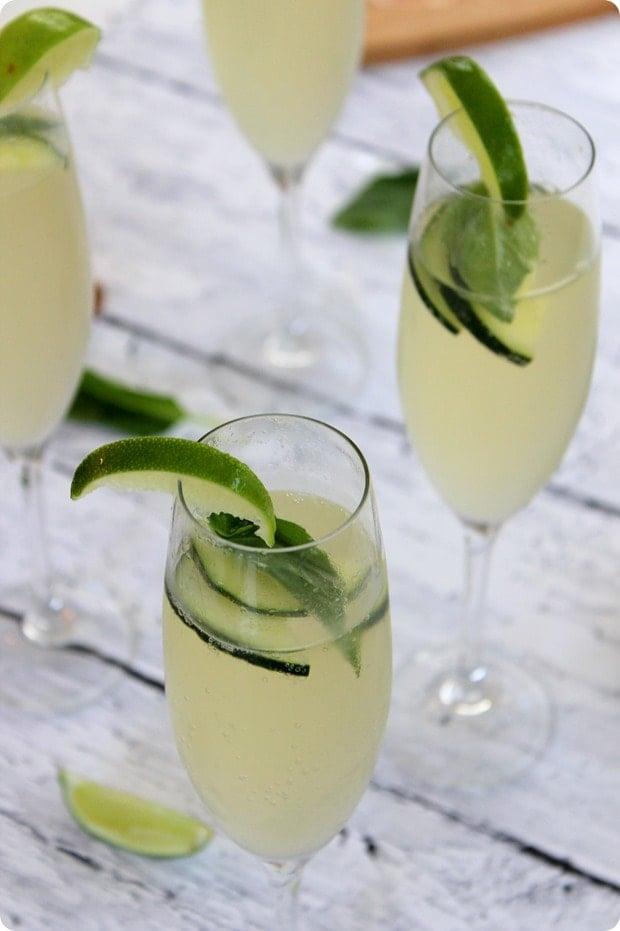 Cucumber Lime Basil Prosecco Spritzer Recipe - fANNEtastic food ...