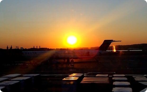 airport sunrise
