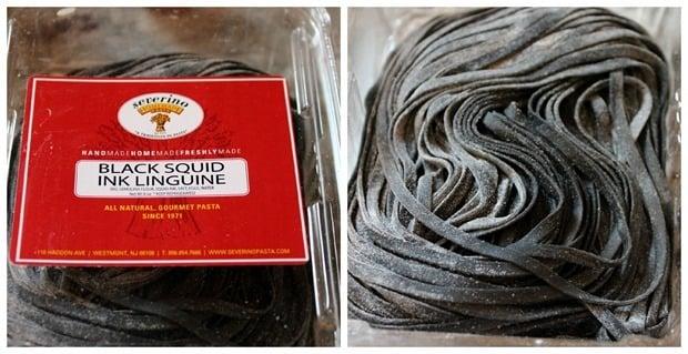 black squid ink linguine severino