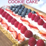 Healthy 4th of July Cookie Cake Recipe