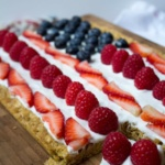 healthy easy 4th of july cookie cake recipe