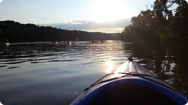 key bridge boathouse night kayak