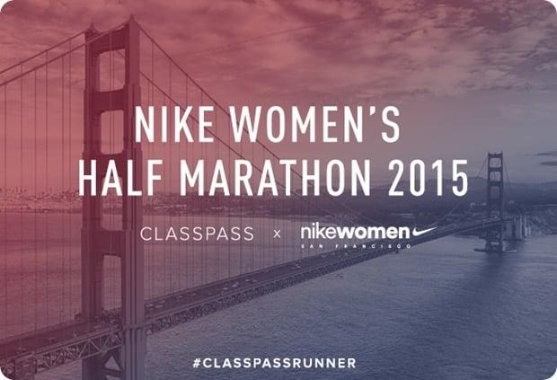 nike womens half SF classpass