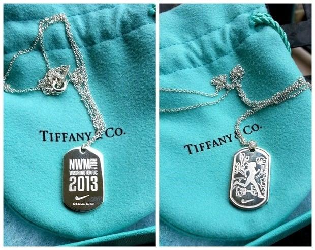 nike women's marathon tiffanys necklace