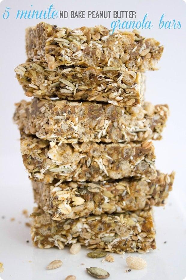 5 min granola bars