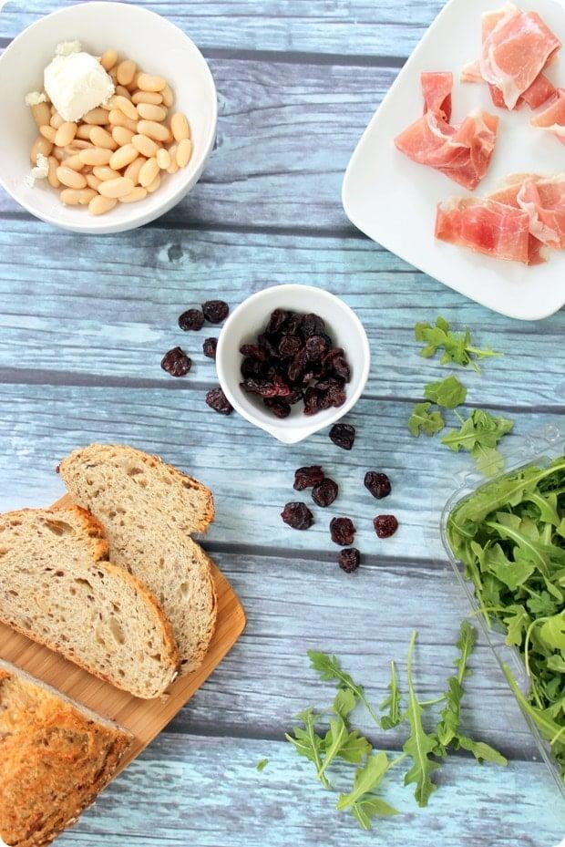 tart cherry proscuitto sandwich ingredients