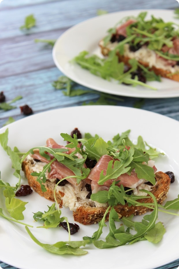 tart cherry proscuitto sandwich