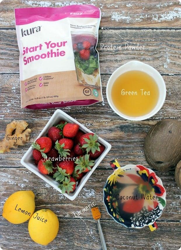 ginger lemon berry smoothie ingredients