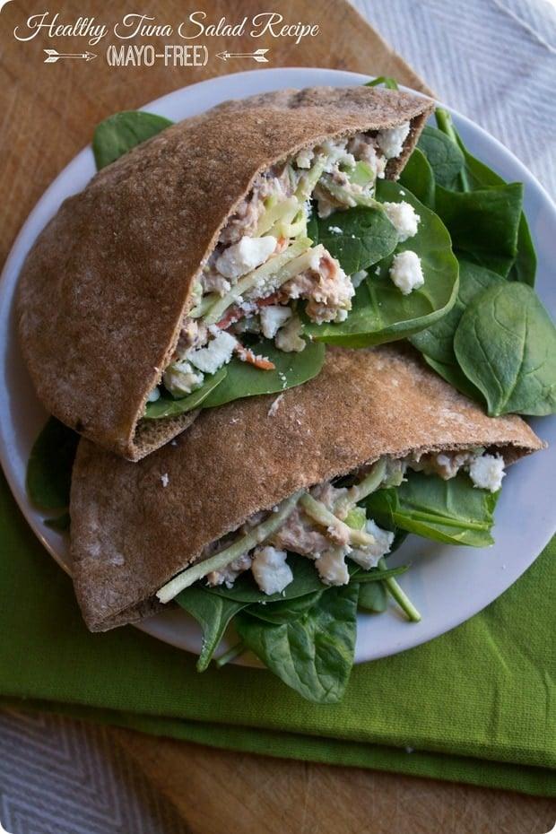 healthy tuna salad recipe mayo free