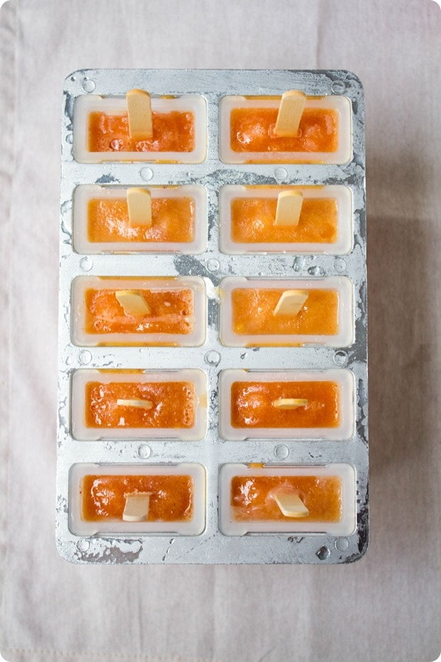 how to make nectarine ice pops