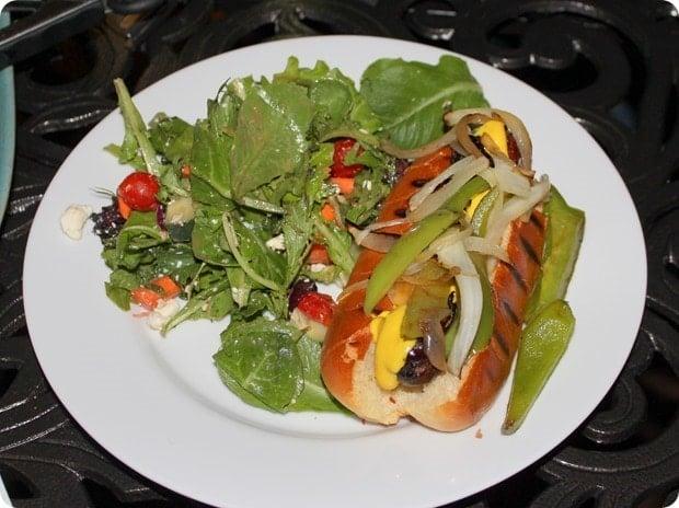 healthy sausage dinner