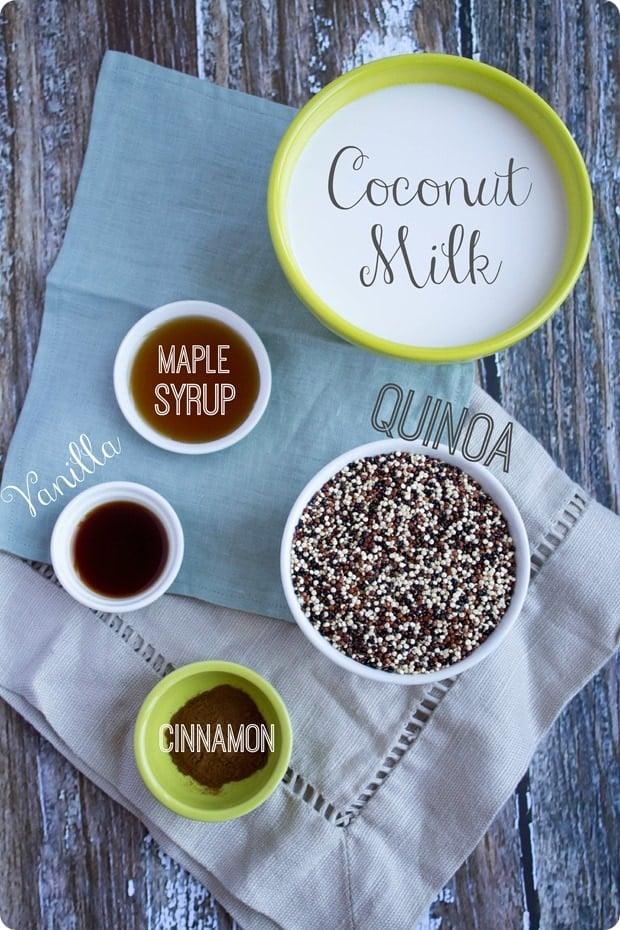coconut breakfast quinoa ingredients