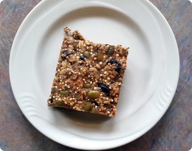 gluten free quinoa energy bars
