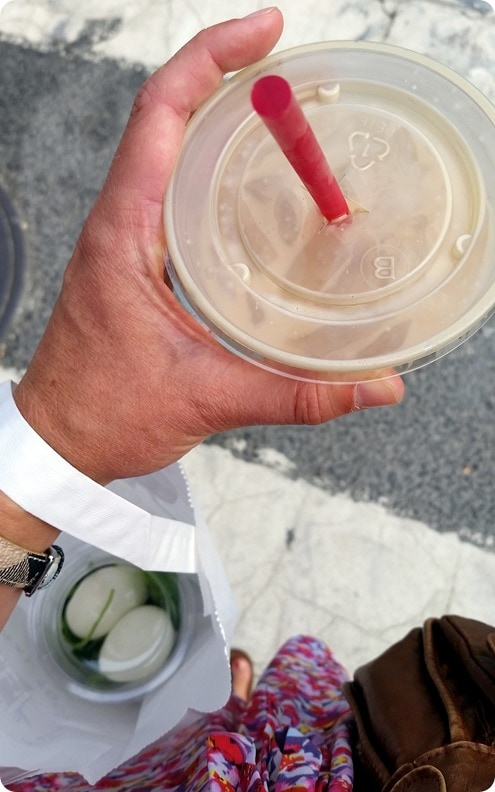 iced latte walk to work