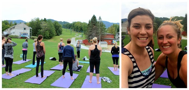 smugglers notch outdoor yoga