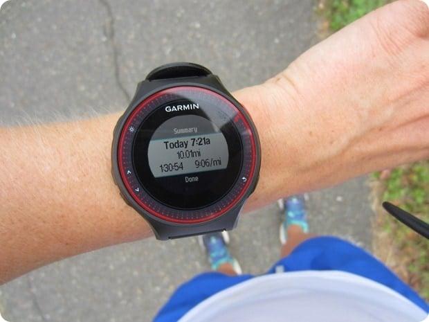 10 mile training run