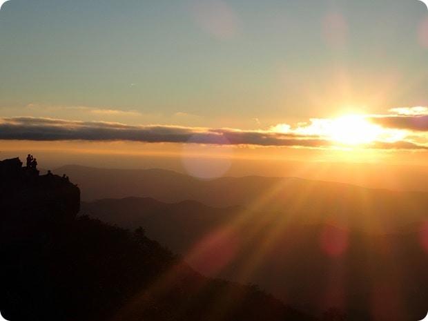 hawksbill mountain sunset