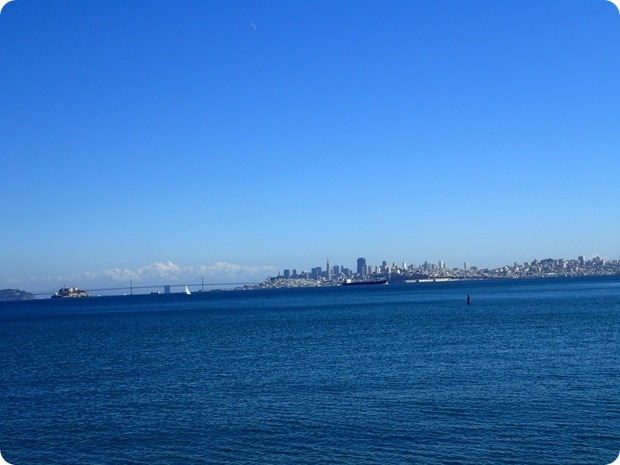 view of san francisco from golden gate