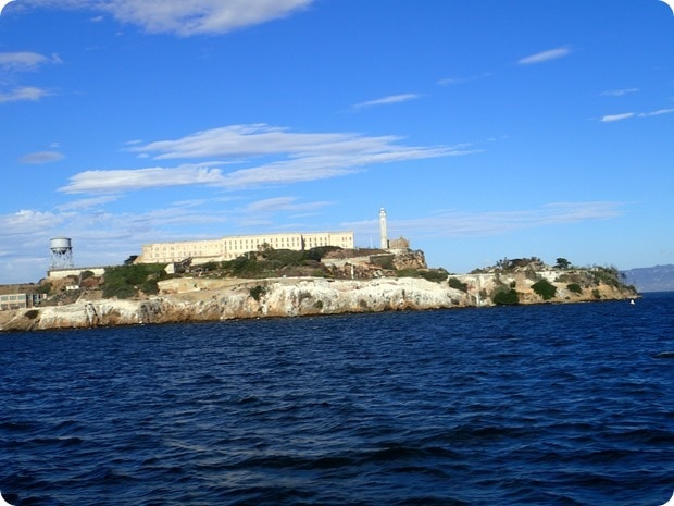 alcatraz view from water