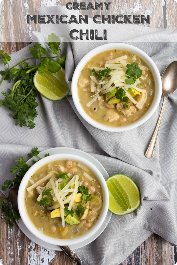 Creamy Mexican Chicken Chili Soup Recipe Fannetastic Food