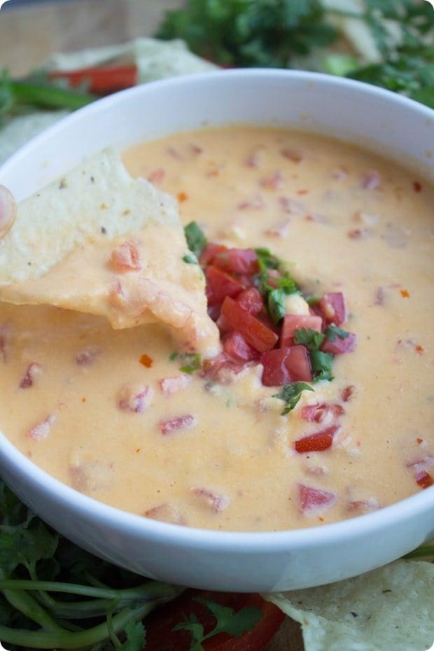 hummus queso healthy football season snack 6